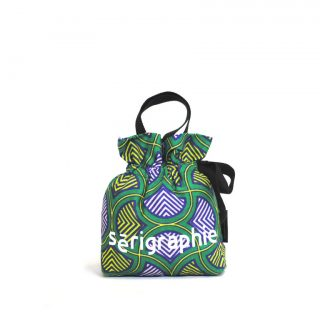 Sērigraphie-Drawstring Wristlet Pouch - Vintage Green