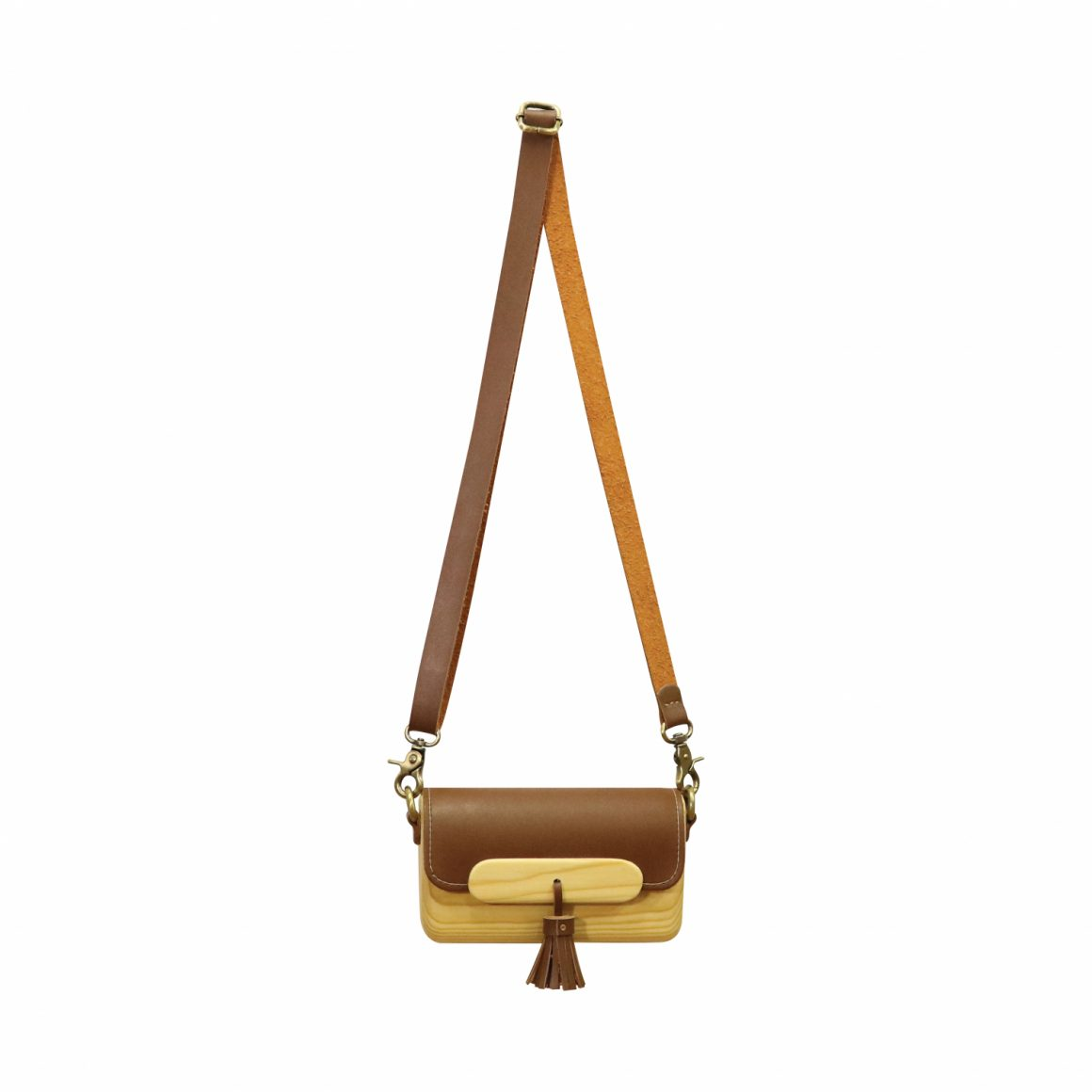 WOODVIEW Ts Dark Brown Clutch