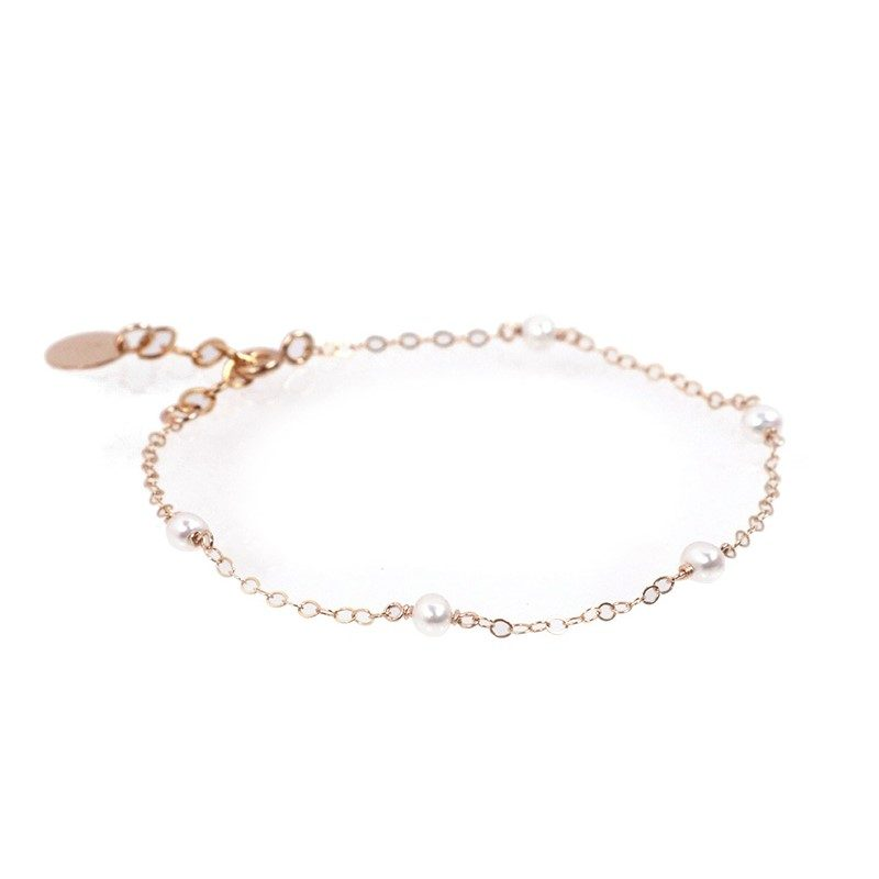 Less is more-Natural Pearl Gold Filled Bracelet