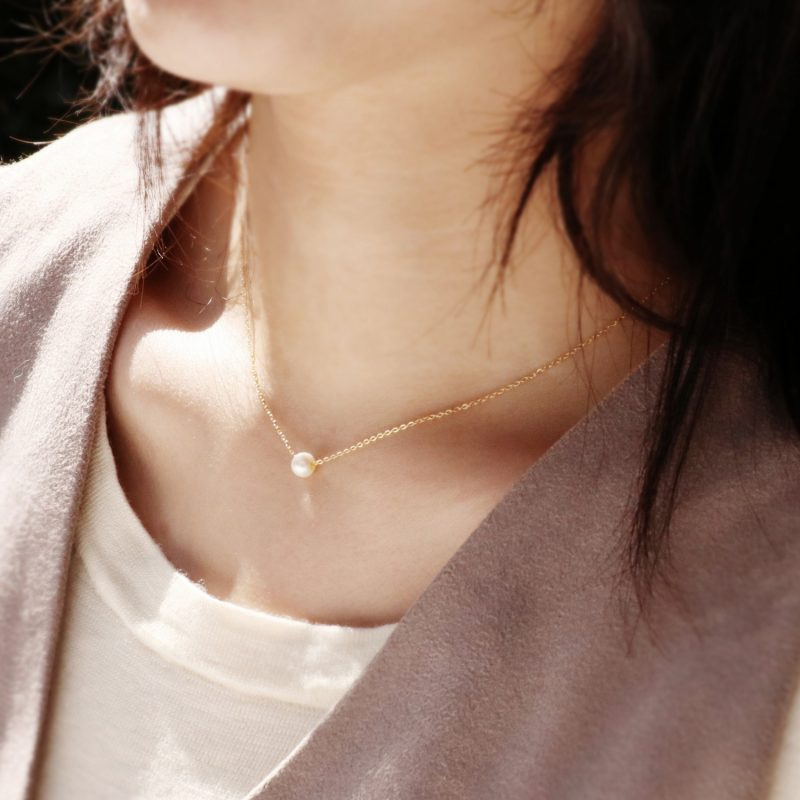 Less is more-Natural Pearl Gold Filled Necklace