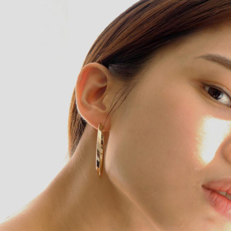 Less is more-Oval Hoop Earrings
