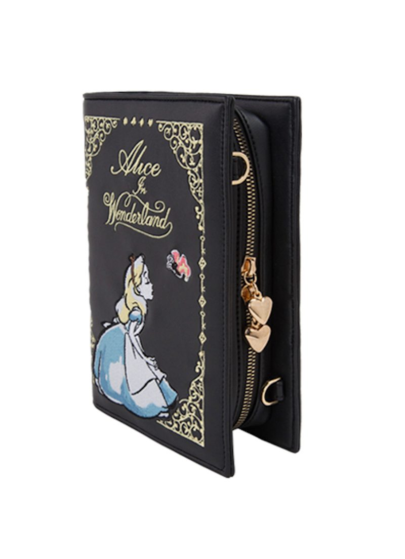 GRACE GIFT Alice Embroidery Book Chain Bag