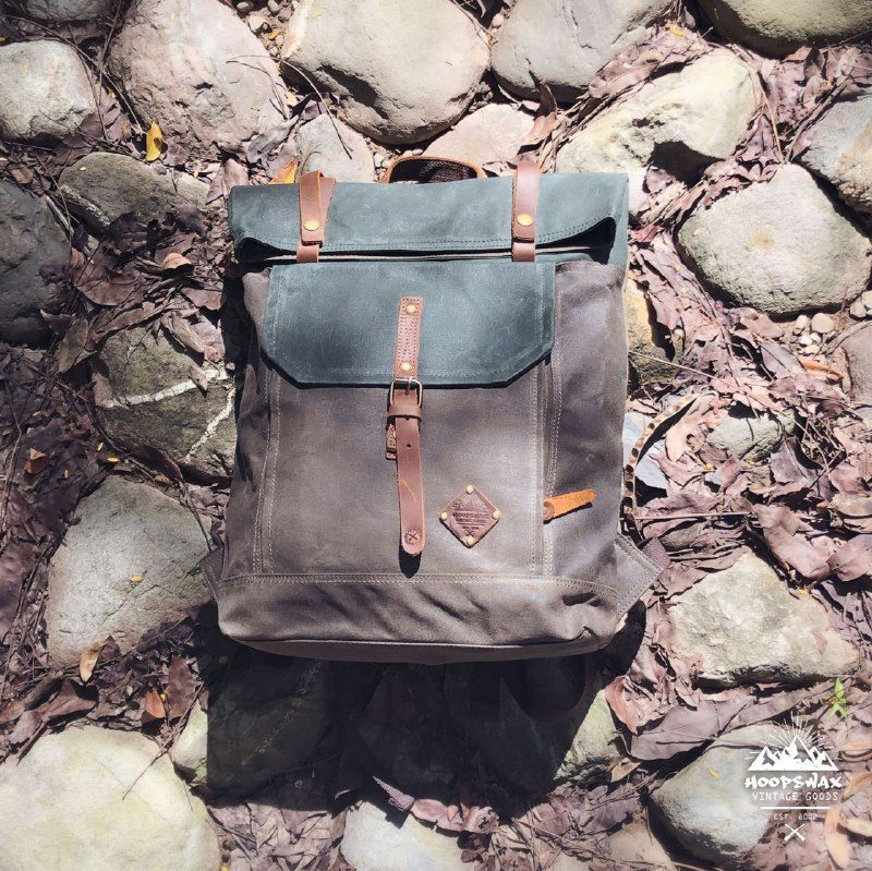 Roll Top Backpack-dark