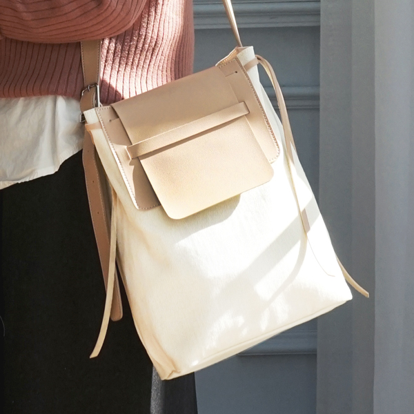Bread Canvas Cross Bag -Ivory Beige