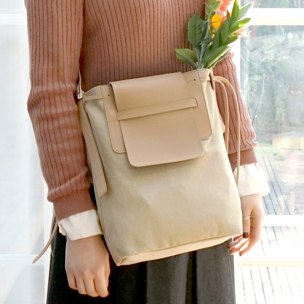 Bread Canvas Cross Bag - Whole Beige