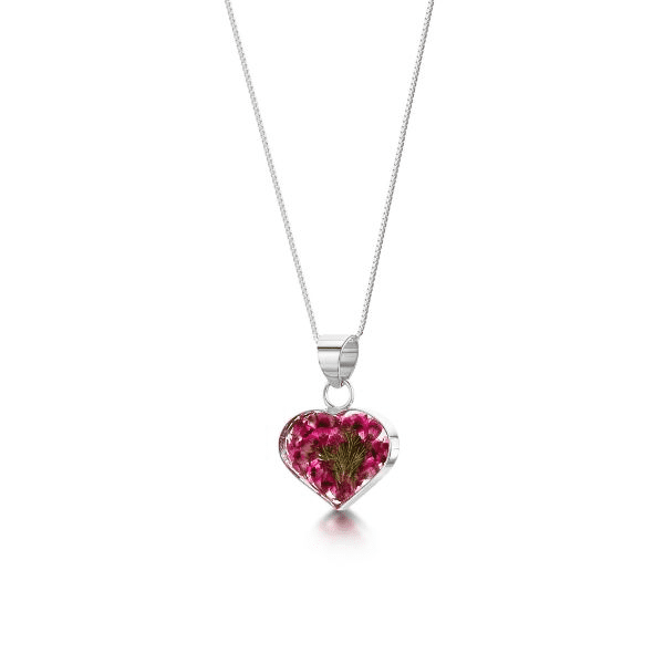 Silver Pendant Necklace - Heather - Small Heart