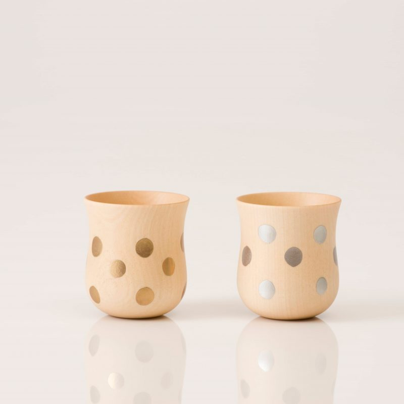 Dot Cup - Natural Gold & Silver