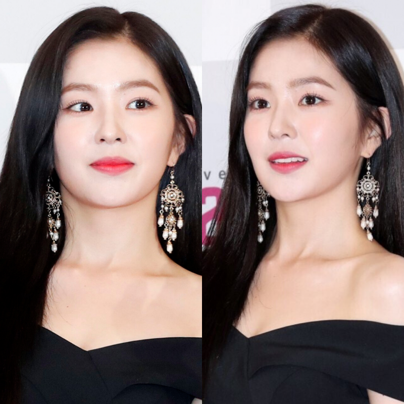 Open Flower Pearl Drop Earrings - Irene