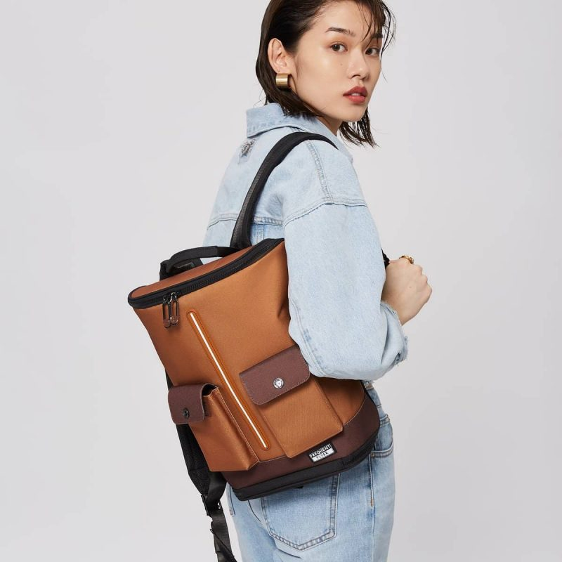 Captain Zip Around Backpack (Xs) - Sugar Almond / Rocky Road