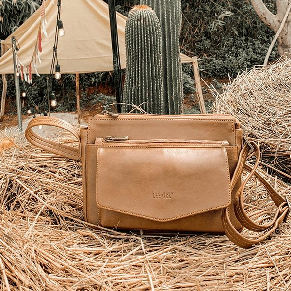 Emvy Multi-compartment On-trend Handmade Leather Sling Bag