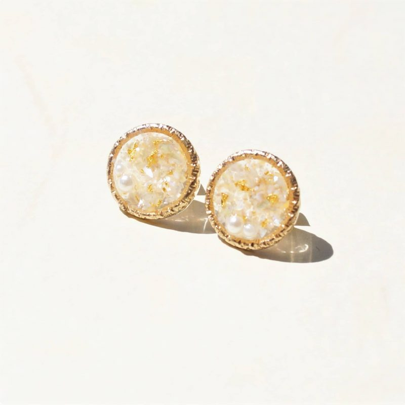 Bloom beauty bar Kanazawa Accessory - Pure Gold Leaf Round Studs
