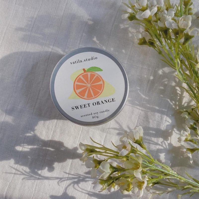 Scented Soy Candle - Sweet Orange