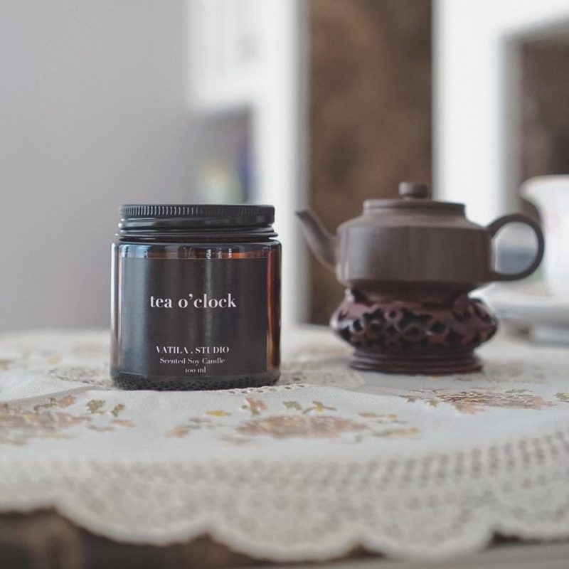 Scented Soy Candle - Tea O'clock